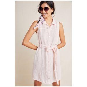 Anthro Cloth & Stone Sleeveless Linen Shirtdress